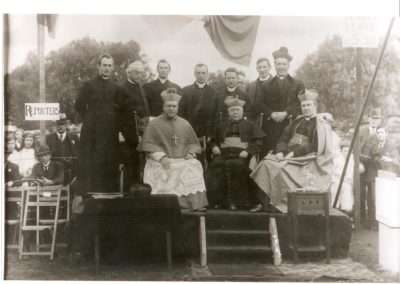 St Mary's TWB 75 - 1918 - 21st July - OFFICIAL GROUP - LAYING THE FOUNDATION STONE FOR THE 2ND SCHOOL BUILDING - SMC